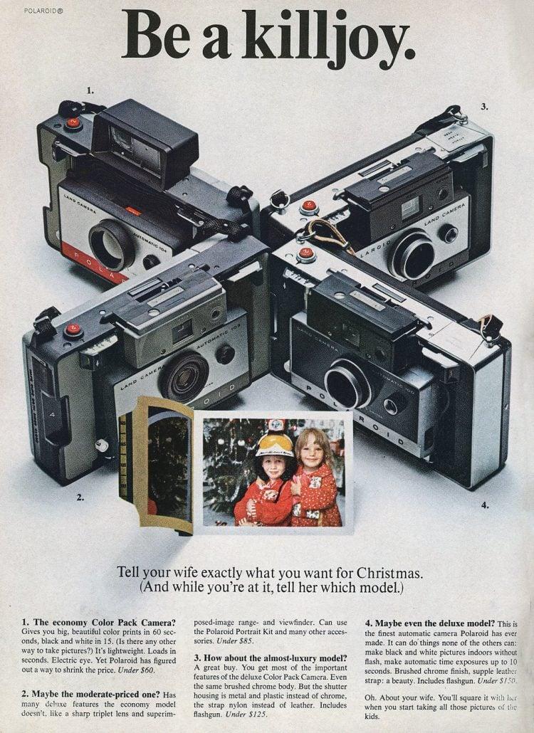 Polaroid cameras from 1966