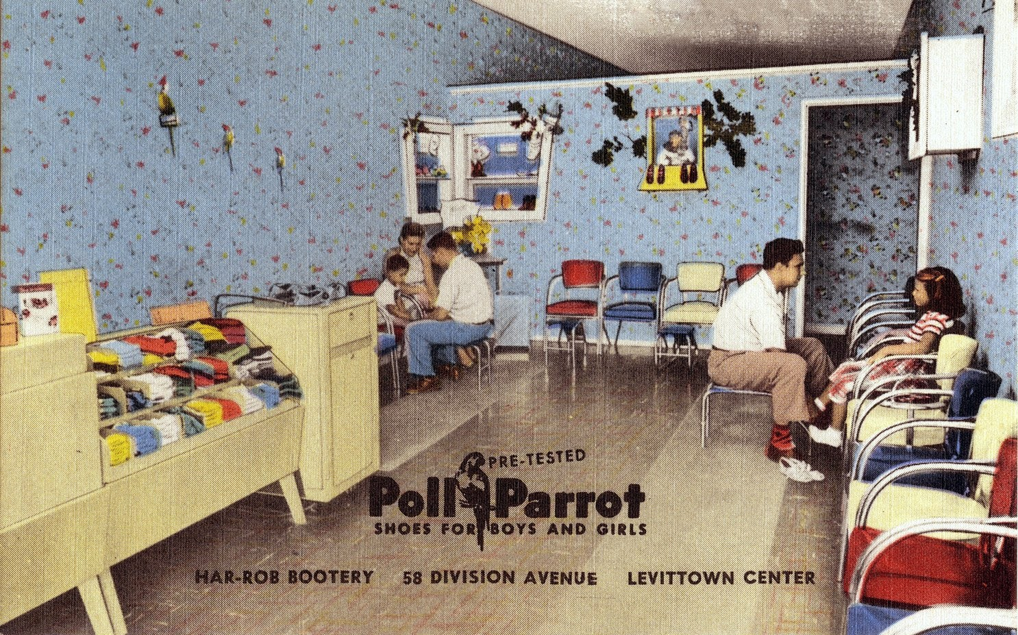 Poll Parrot shoes - Har-Rob Bootery - Levittown Pennsylvania (1940s)