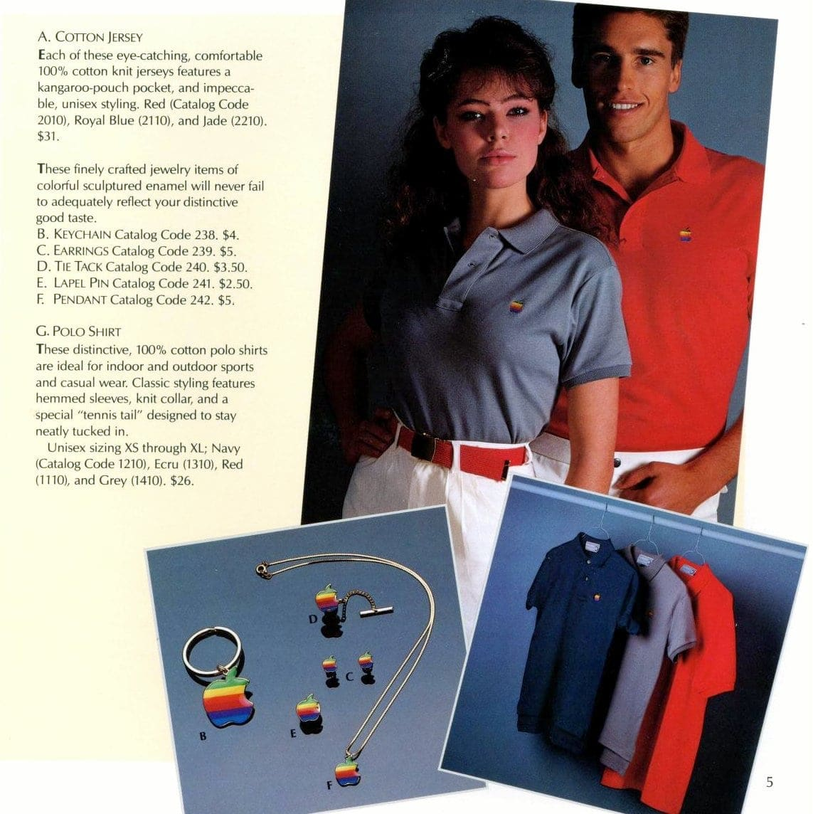 Polo shirts and jewelry
