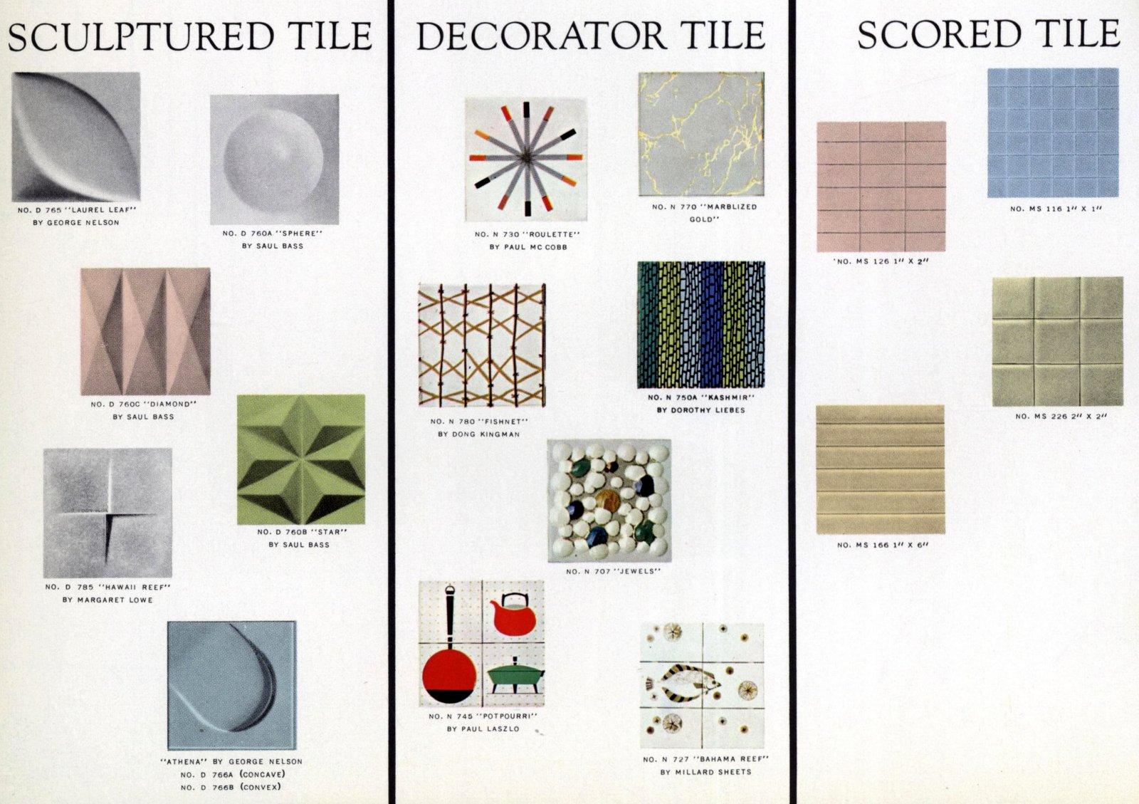Pomona tile designs from 1961