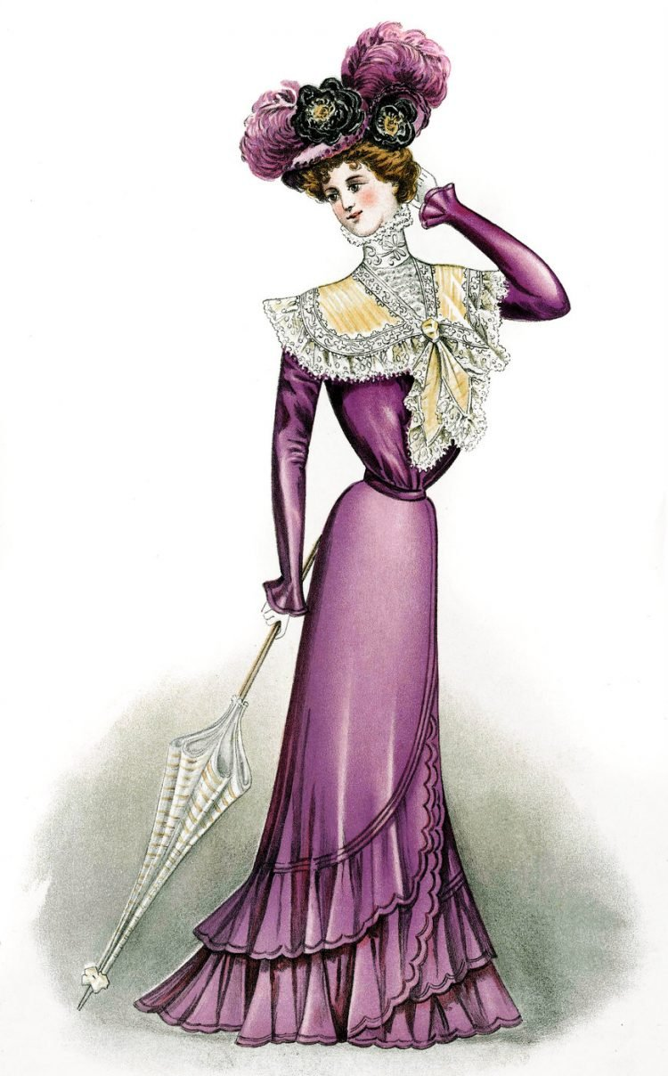 Pompadour dress 1899