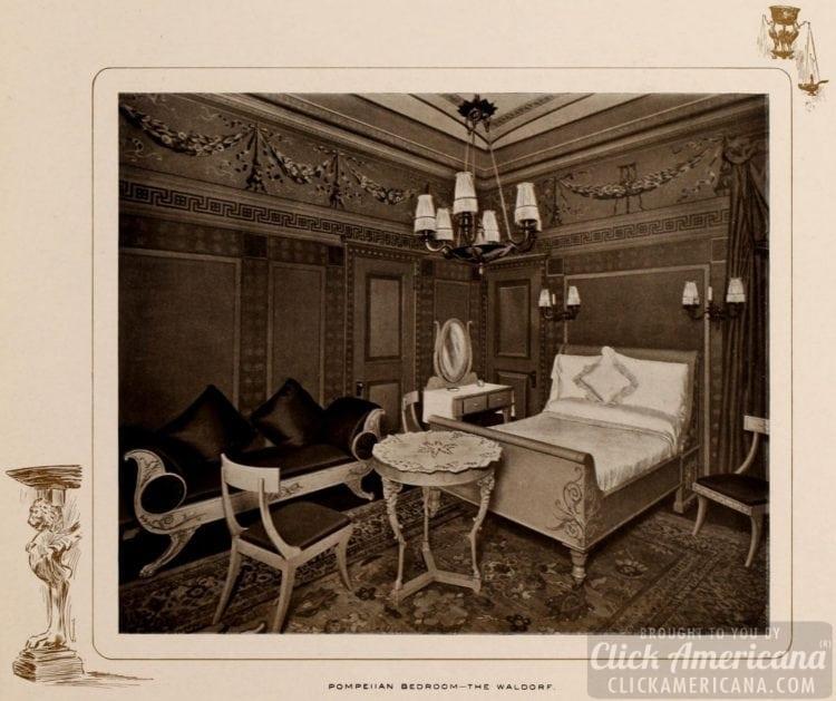 Pompeiian Bedroom at the Waldorf Hotel in New York - 1903
