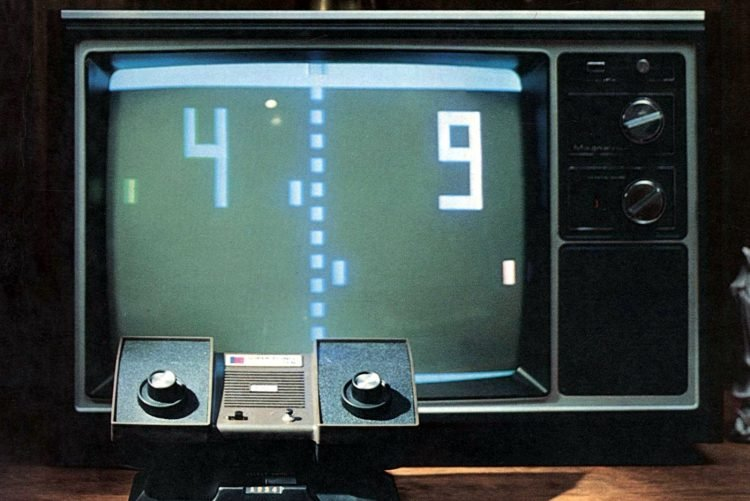 Pong video game TV - 1977