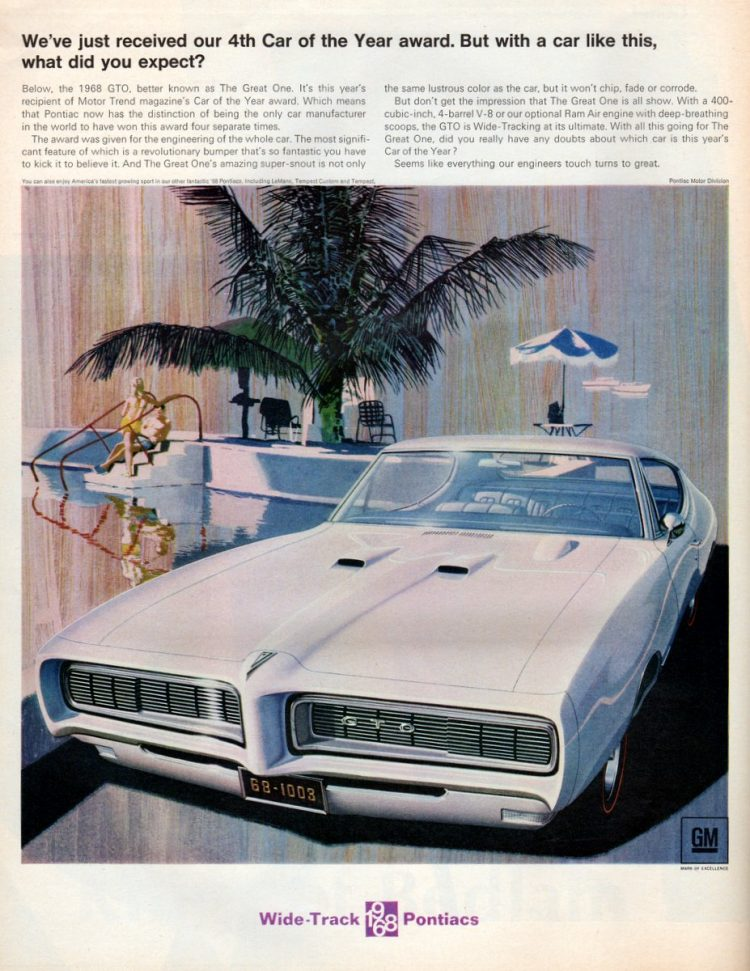 Pontiac 1968 GTO, better known as The Great One