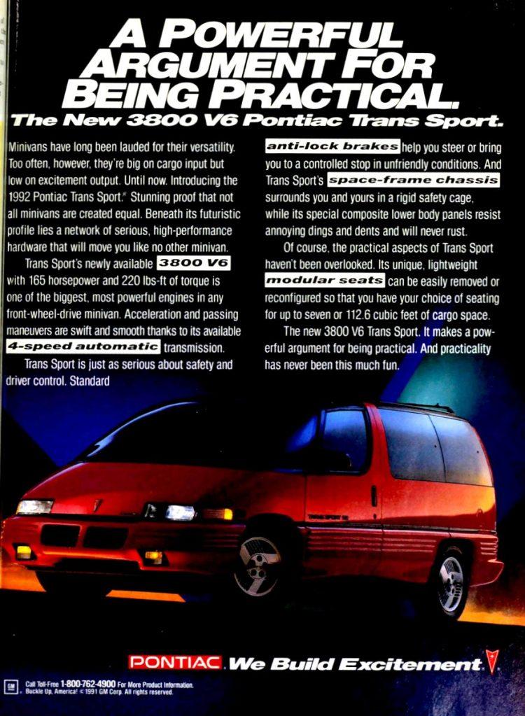 Pontiac minivans from 1991