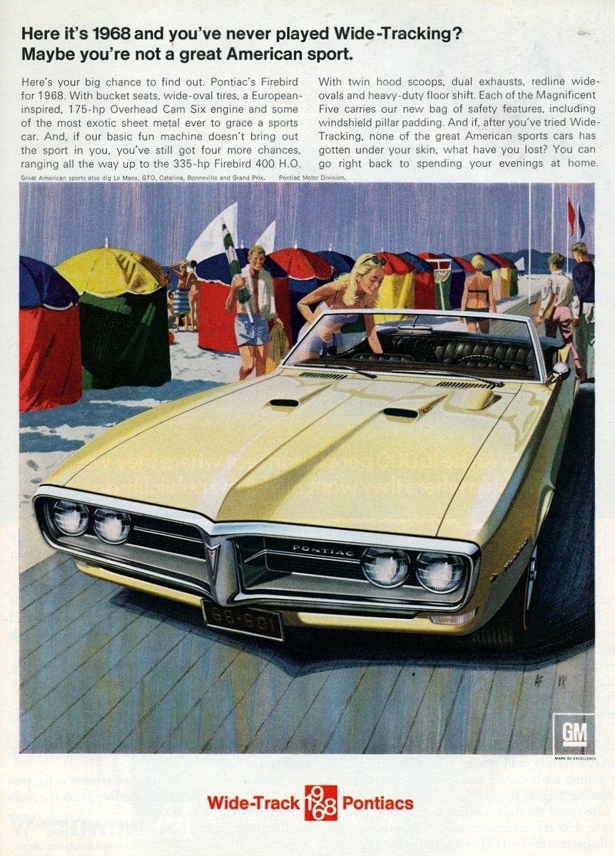 Pontiac's Firebird for 1968