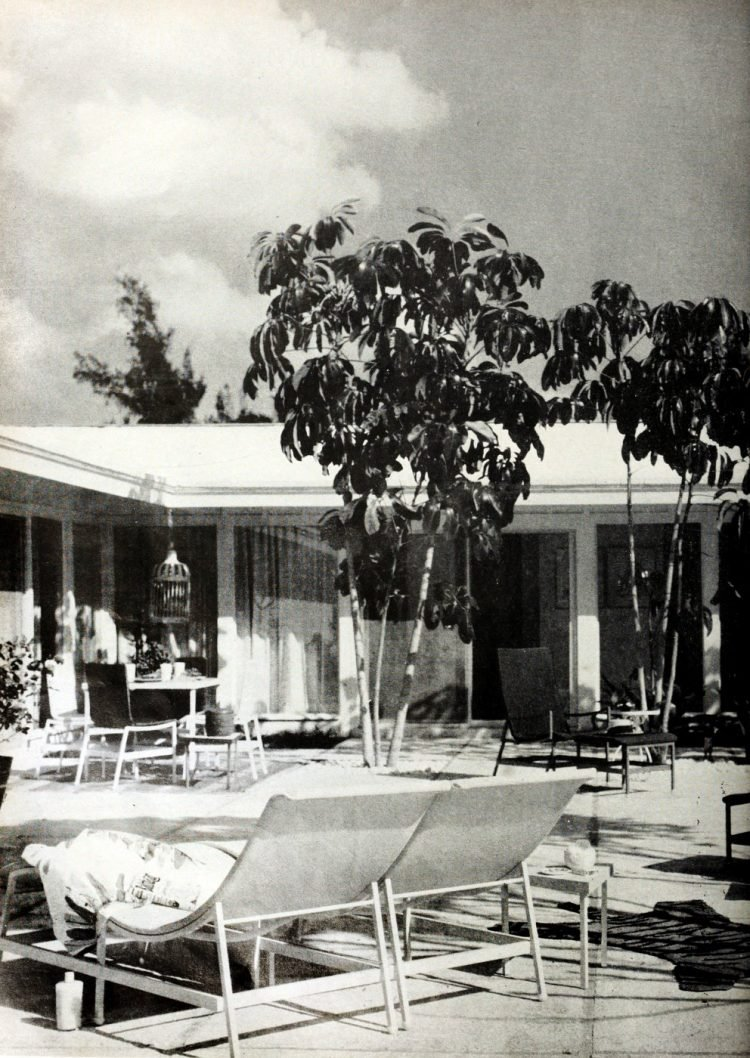Poolside back yard - Vintage sixties Scholz Mark 60 house