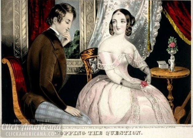 The etiquette of marriage: Popping the question (1850)