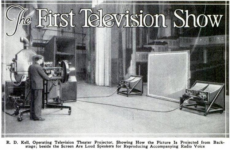 Popular Mechanics Aug 1930 First TV show