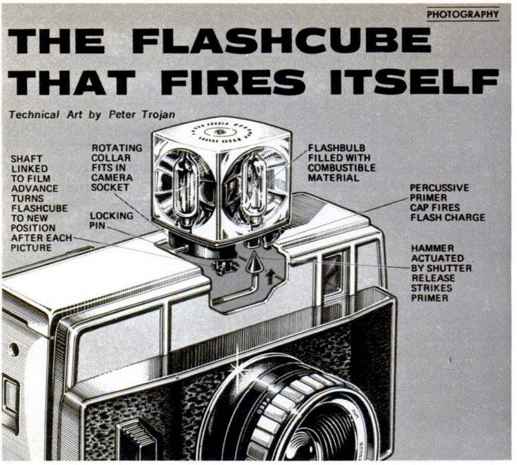 Popular Mechanics Aug 1970 - How vintage flashcubes work