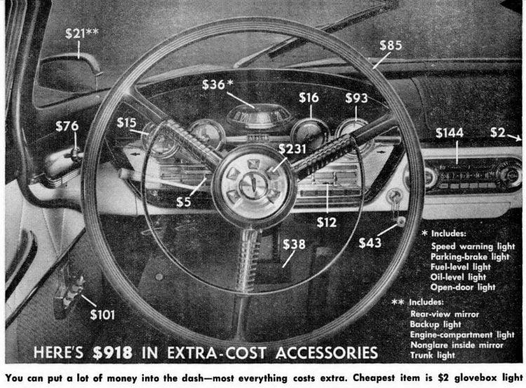 Popular Mechanics Mar 1958 Ford Edsel dashboard