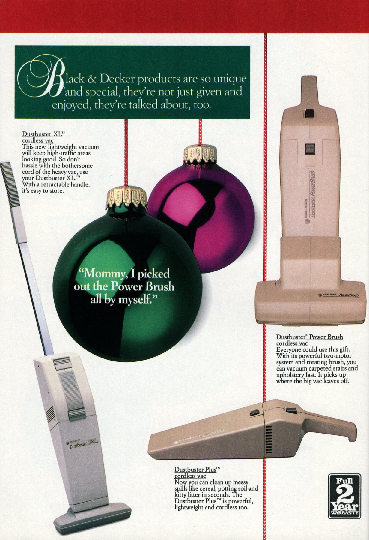 Popular retro Black and Decker electronics and appliances from 1987