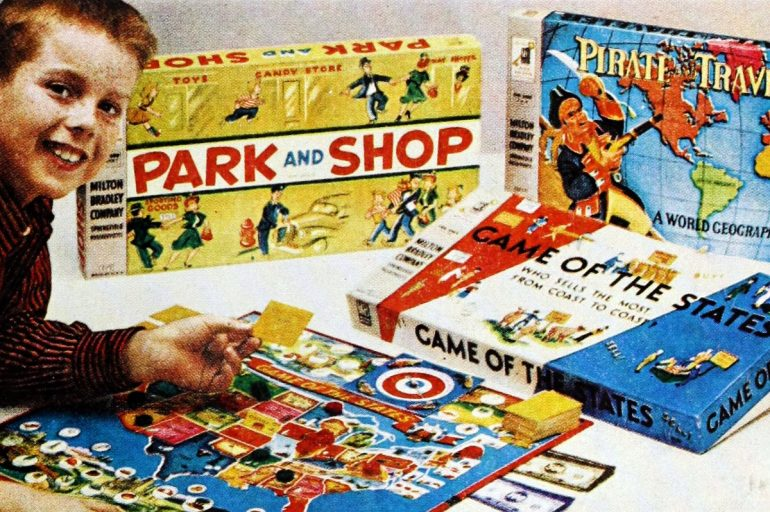 Popular vintage board games from the '50s