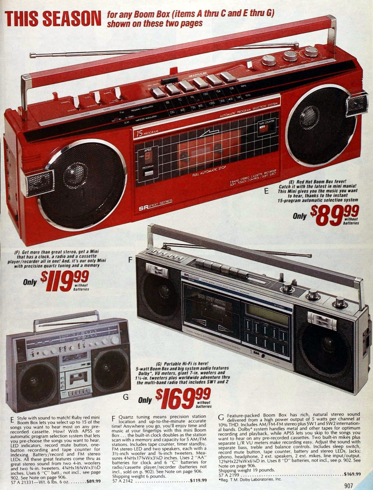 Boom boxes: Portable radios with cassette players (1985)