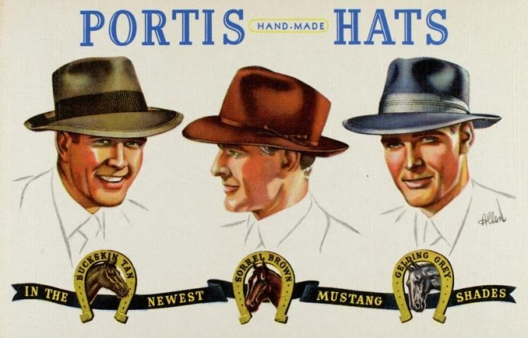 Portis Hand-Made Hats from 1942