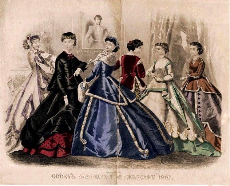 Post-Civil War, Reconstruction-era dresses 1867 (1)
