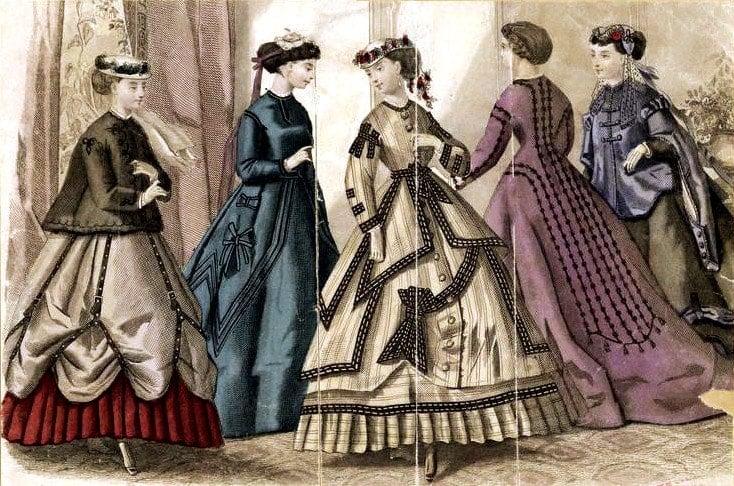 Post-Civil War, Reconstruction-era dresses 1867 (2)