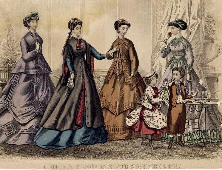 Post-Civil War, Reconstruction-era dresses 1867 (3)