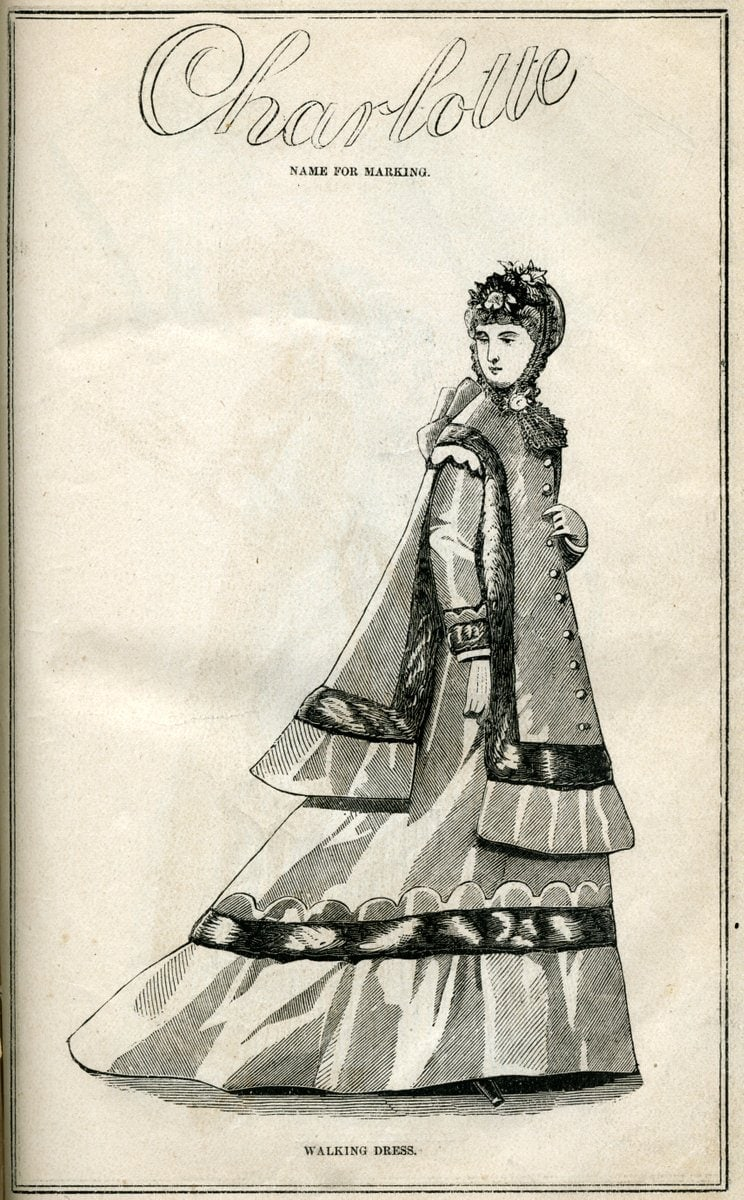 Post-Civil War dresses from 1869 - Antique fashion illustration (3)