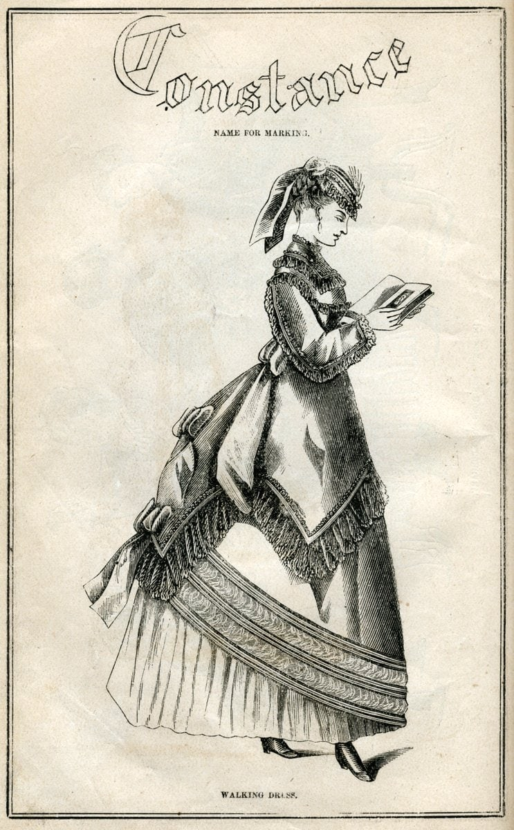 Post-Civil War dresses from 1869 - Antique fashion illustration (4)