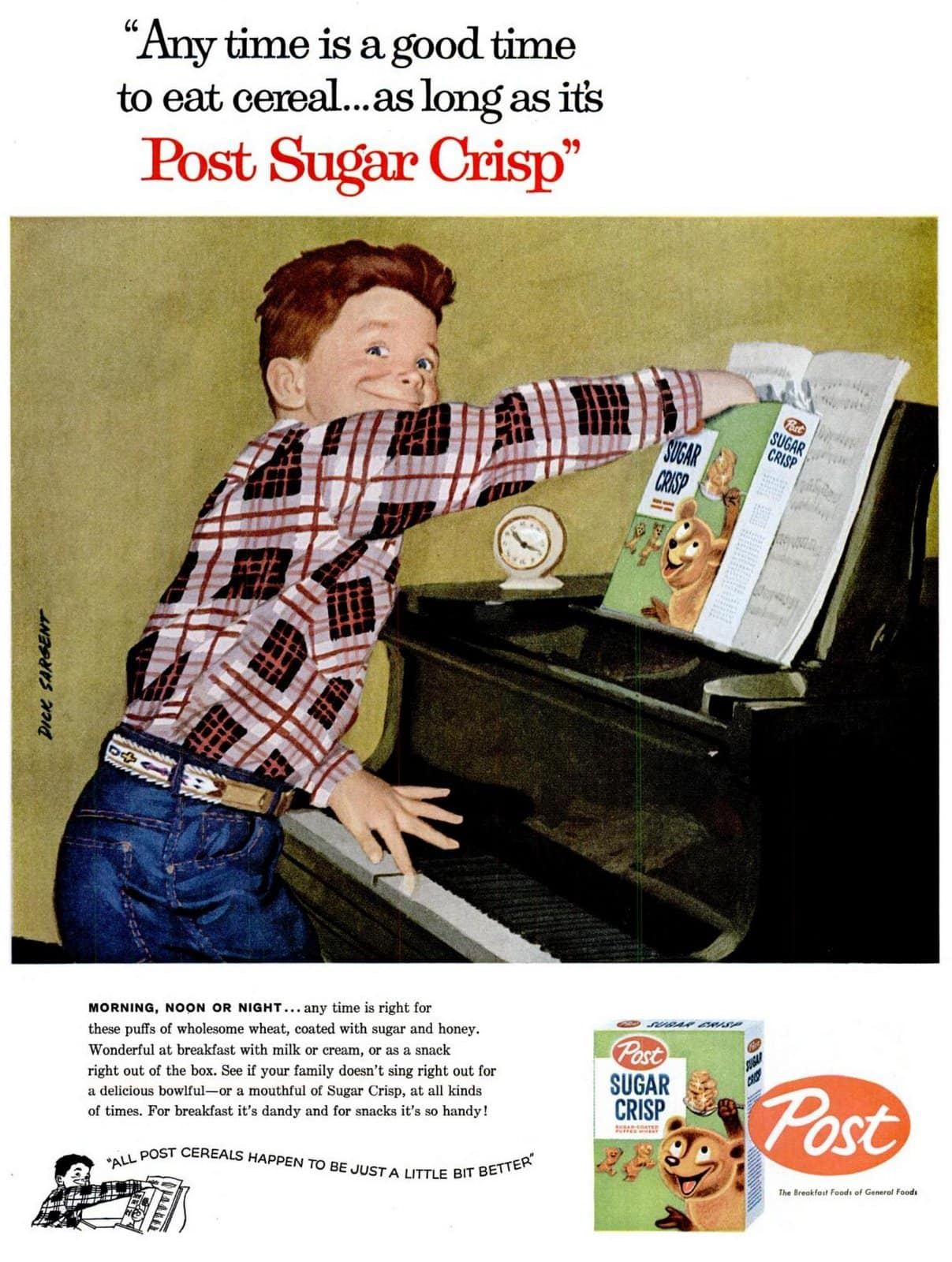 Post Sugar Crisp cereal (1957)