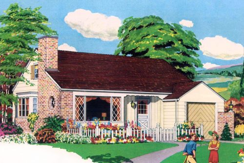 Post-war housing - 35 small starter home plans of the 1940s and 1950s