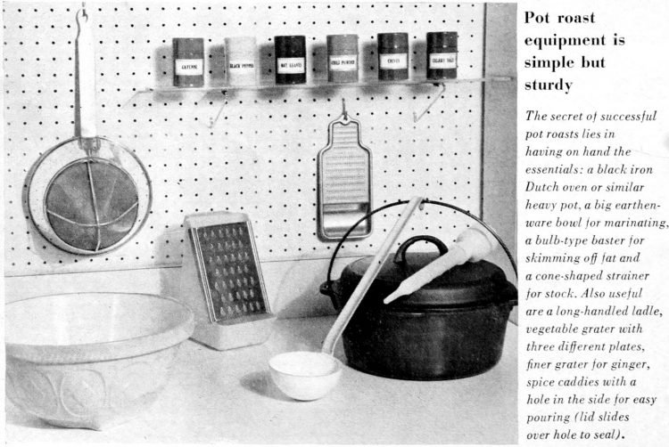 Pot roast cooking equipment ideas from 1964