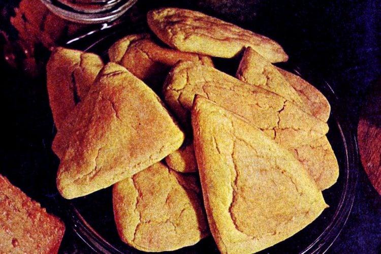 Potato corn triangles A retro quick bread recipe from 1969