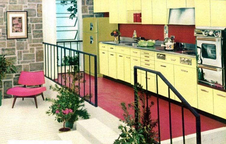 Praise-winning kitchens. by Republic Steel Corporation 1956 pink yellow
