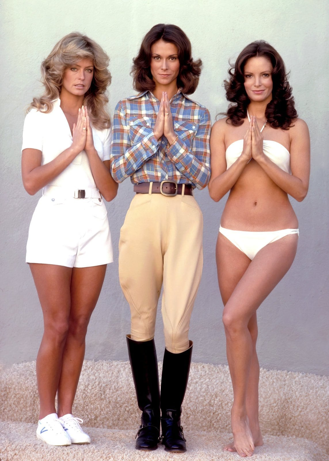 Praying Charlie's Angels - Vintage seventies TV show leads