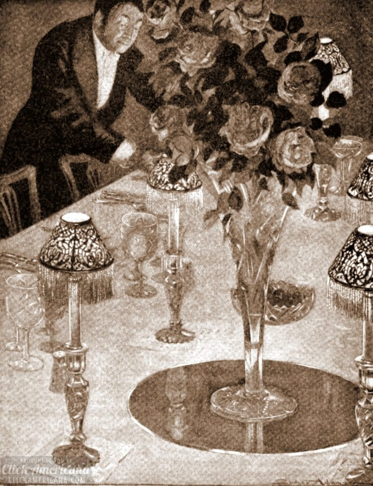 Preparing for a dinner party - 1905