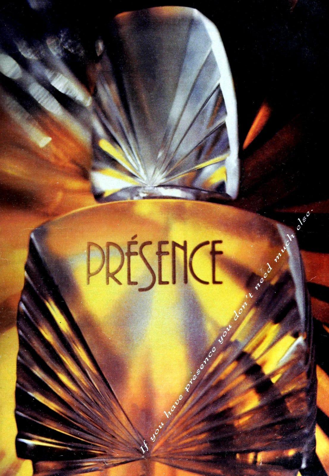 Presence perfume (1990) at ClickAmericana.com