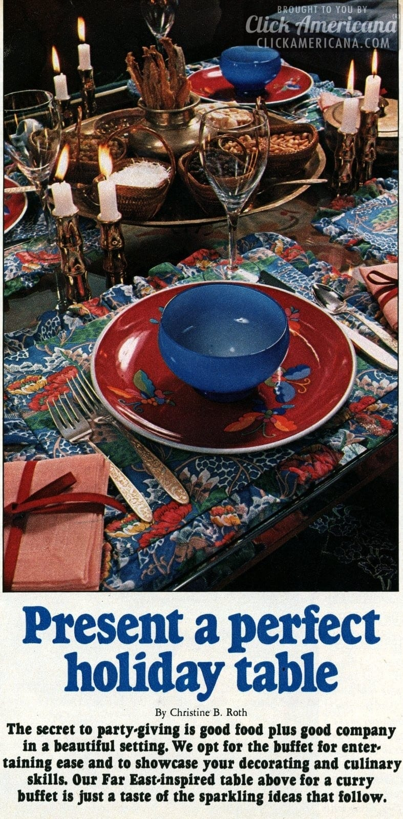 How to present a perfect holiday table (1967)