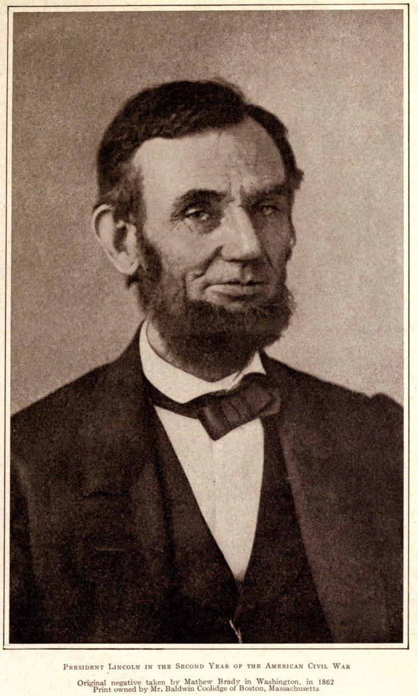 President Abraham Lincoln in 1862