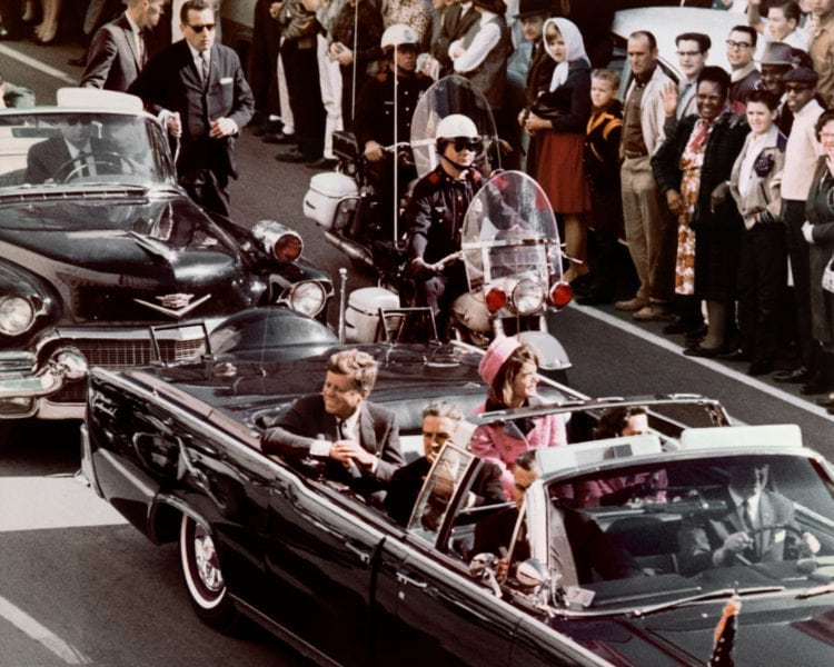 Kennedy just before he was killed - 1963