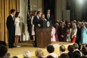 President Nixon resigns - farewell speech 1974