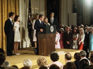 President Nixon resigns - farewell speech 1974