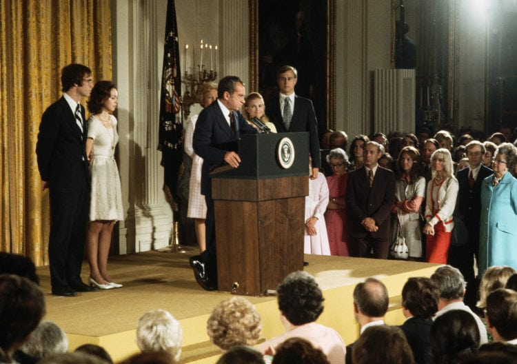 President Nixon resigns after Watergate - farewell speech 1974