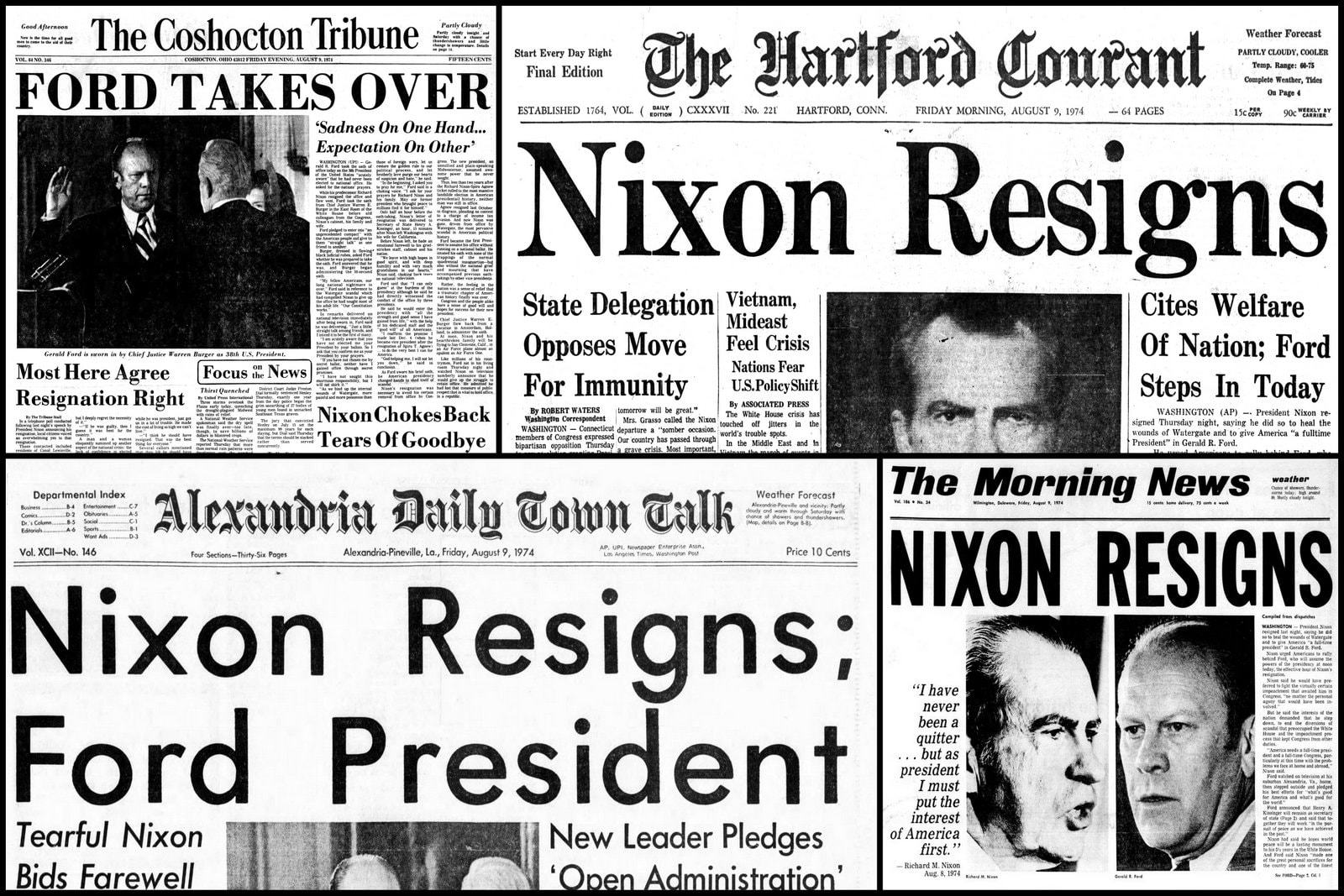 President Nixon's last 17 days in office Desperate search for a way out after Watergate (1974)
