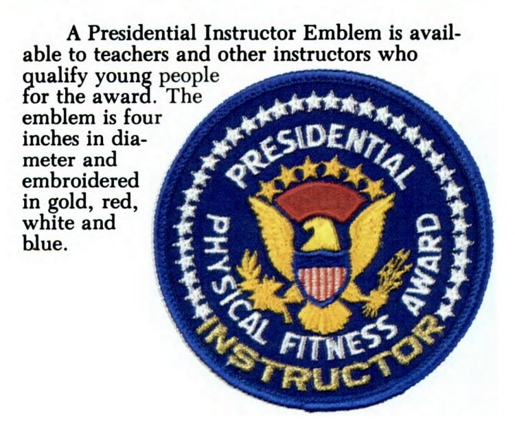 Presidential Physical Fitness Award - Instructor emblem