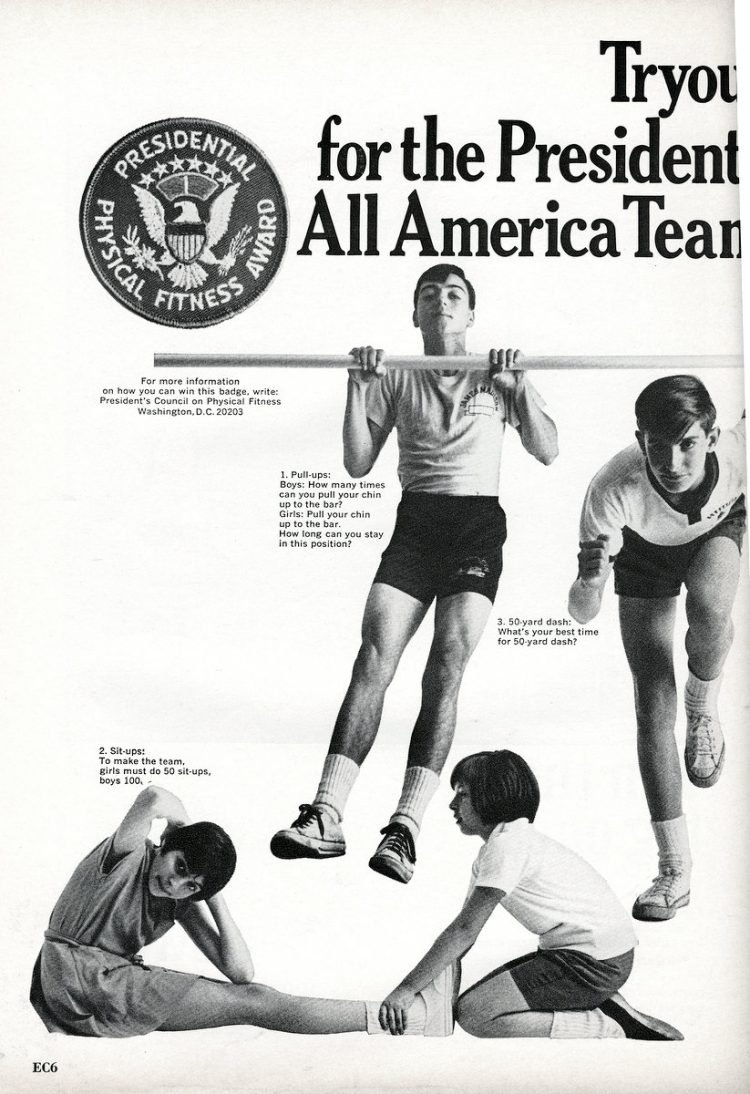 Presidential Physical Fitness ad from 1967