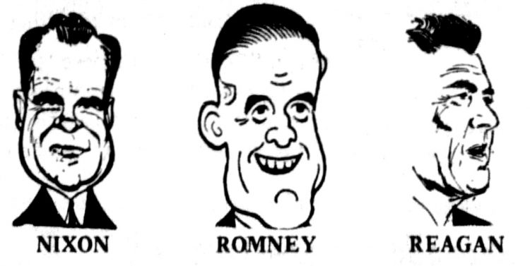 Presidential candidates caricatures 1968 (1)