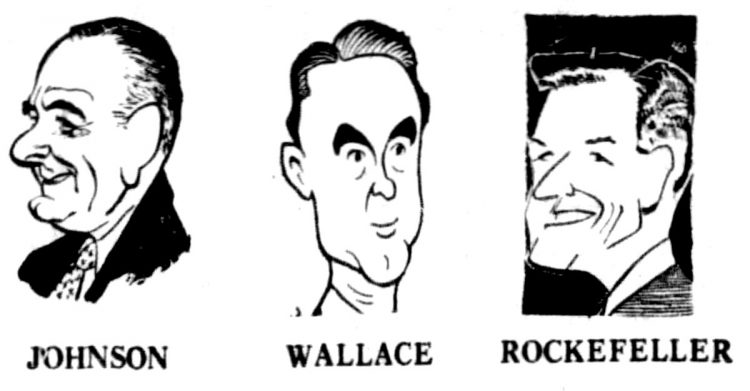 Presidential candidates caricatures 1968 (2)