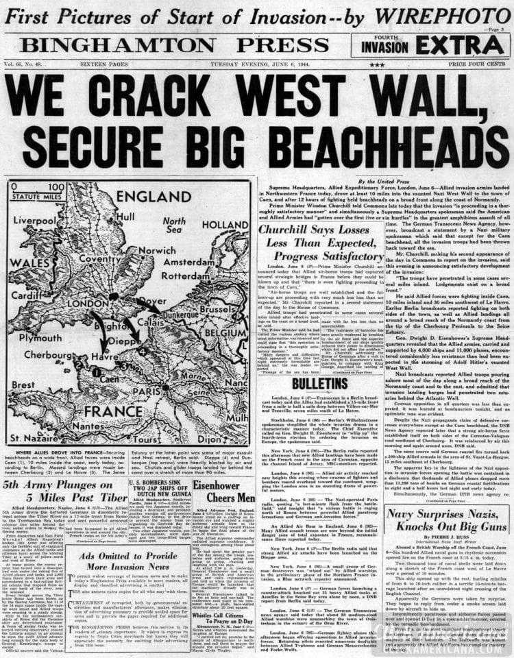 We Crack West Wall, Secure Big Beachheads