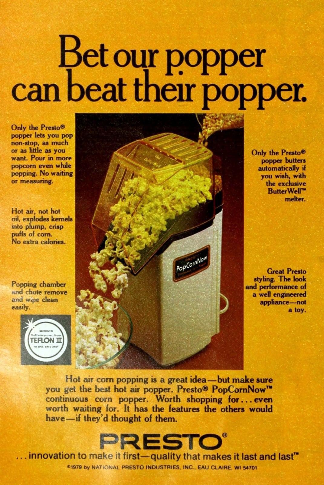 Presto -- PopCornNow corn popper (1979)