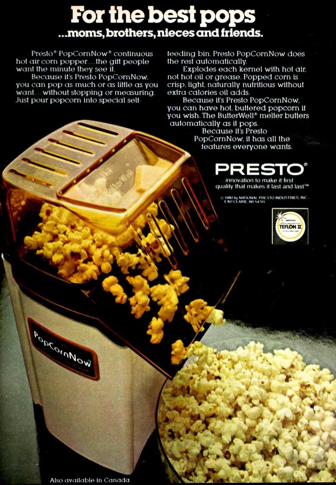 Presto PopCornNow -- retro popcorn maker (1980)