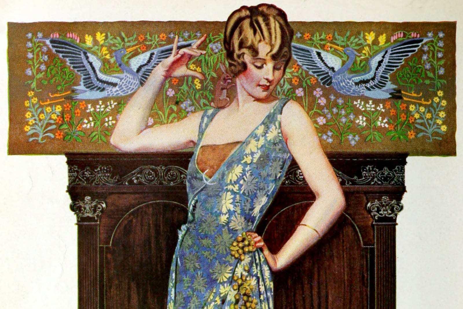 Vintage 1920 Dress  Fabric