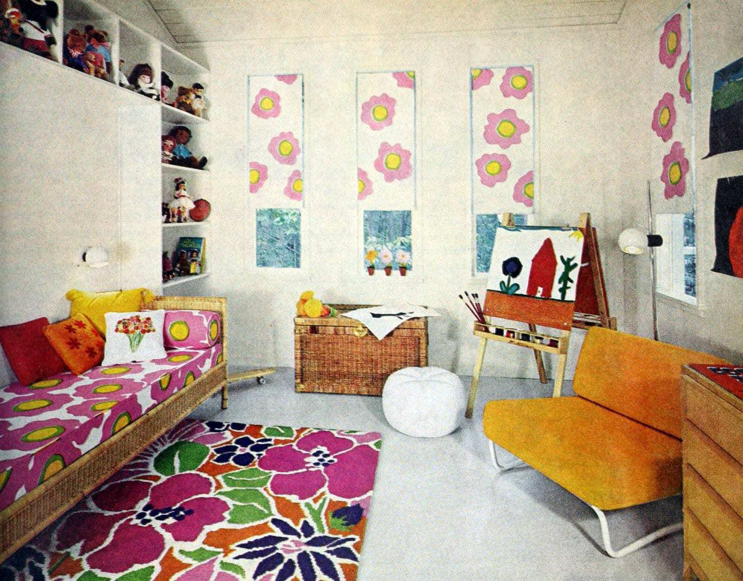 Pretty groovy floral room for a 70s girl
