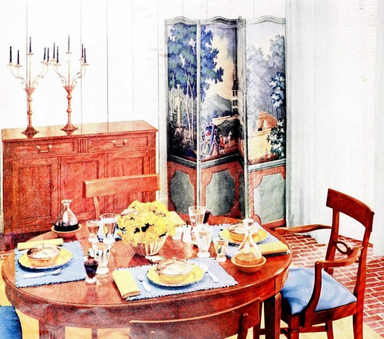 Pretty vintage dining table ideas from the 1950s (1)