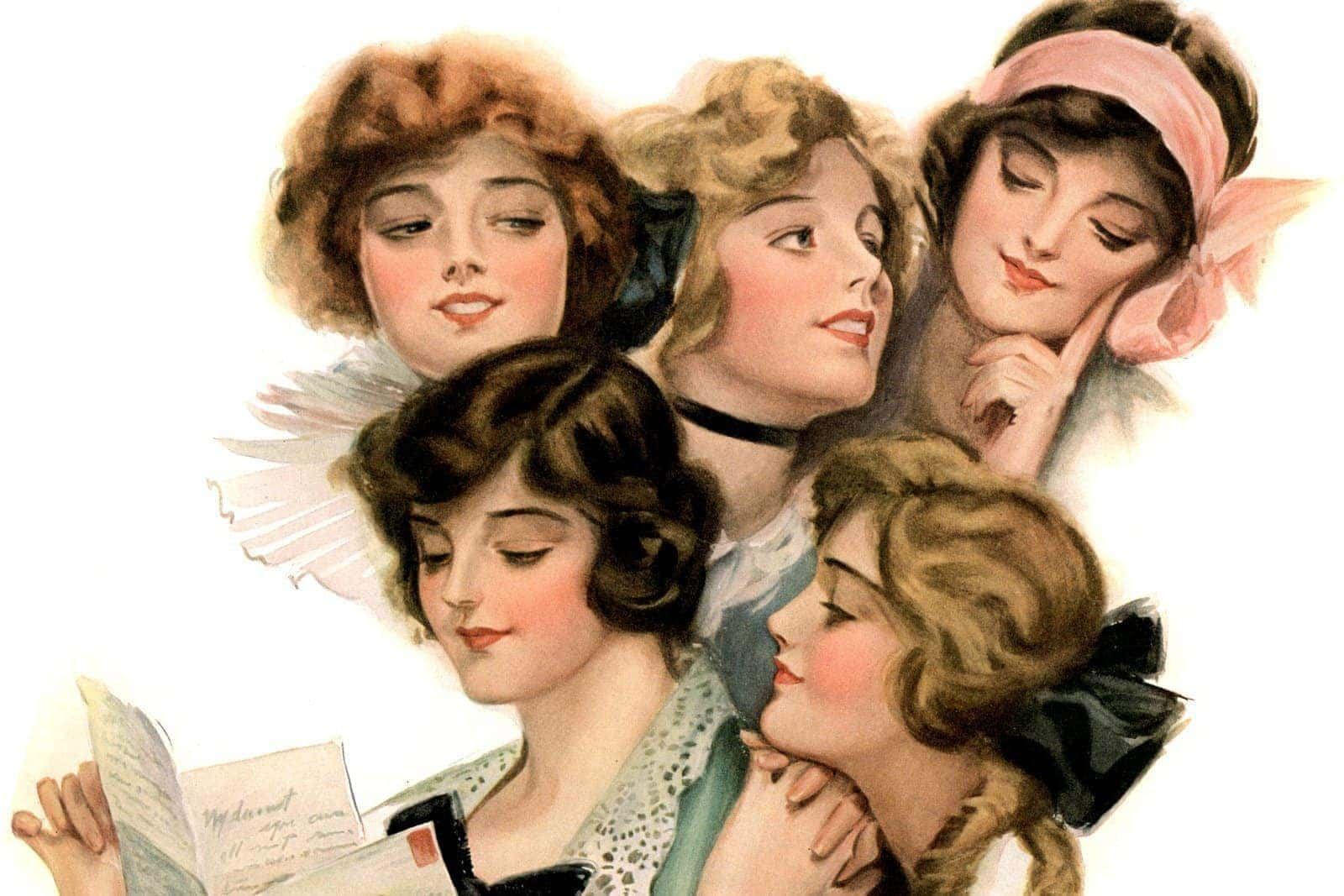 Pretty vintage hairstyles for women from the 1910s
